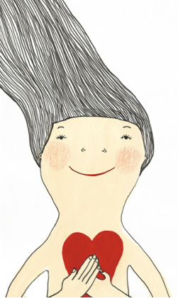 Ilustración: Eva Armisén. Portada del libro disco '¿Qué me está pasando?'.