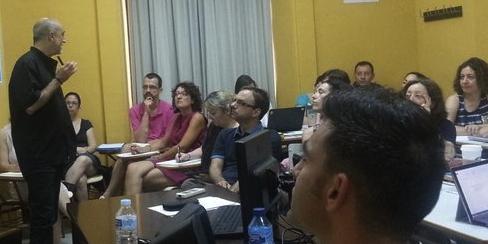 Ruiz Campillo durante su módulo sobre Gramática
