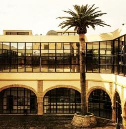 El patio de la Facultad de Filosofía y Letras de la Universidad de Cádiz, emplazamiento de Enele 2016